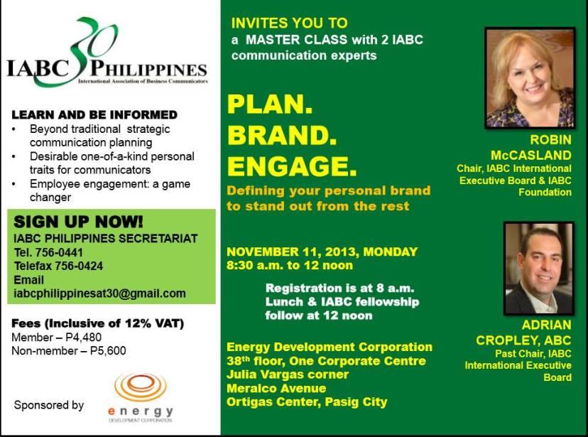 IABC Phils. Master Class e-flyer